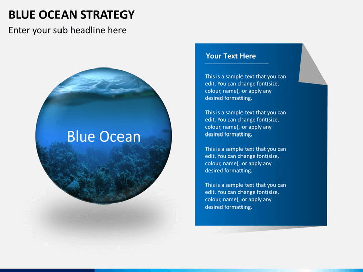 Blue ocean strategy PPT slide 1