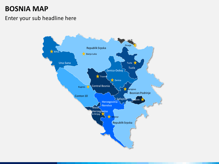 Bosnia map PPT slide 2