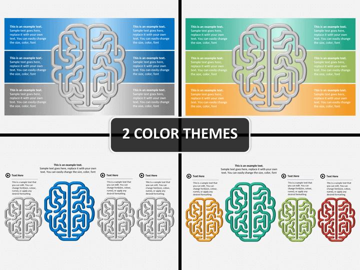 Brain chart PPT cover slide