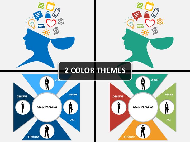 Brainstorming PPT cover slide