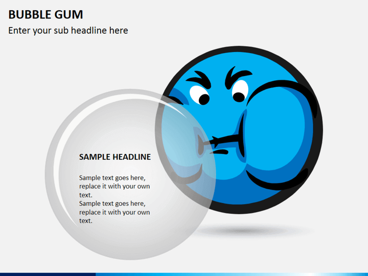 Bubble gum PPT slide 1