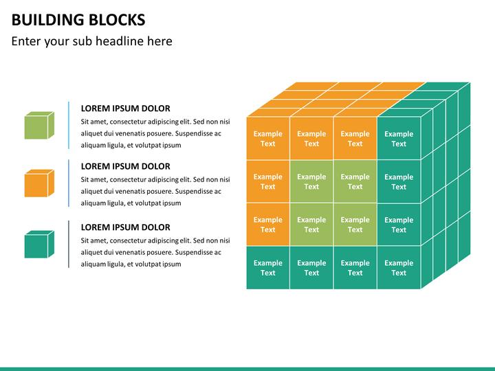 building blocks powerpoint template sketchbubble