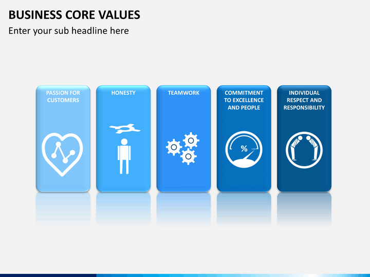 business core values powerpoint template