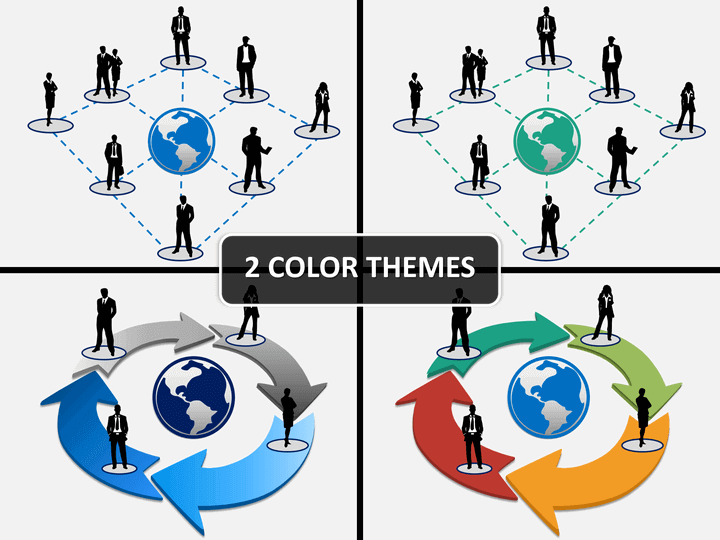 Business networking PPT cover slide