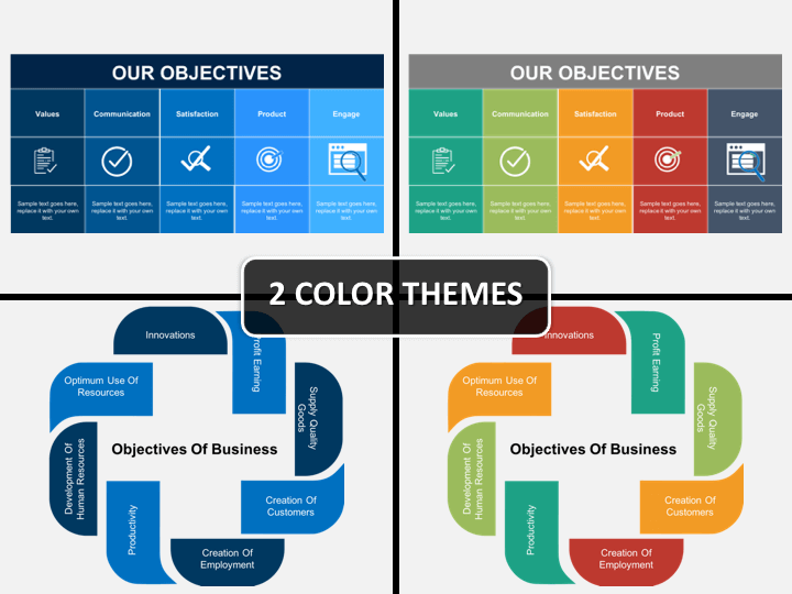 Business Objectives PPT cover slide