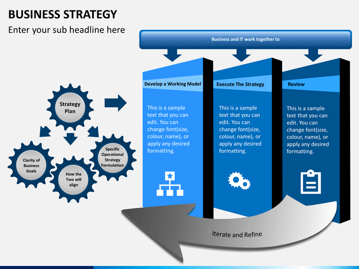 business strategy powerpoint template sketchbubble