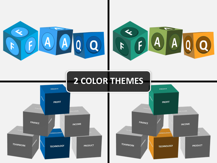 Buzzword cubes PPT cover slide