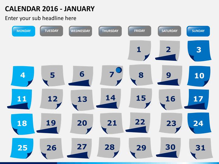 Calendar 2016 PPT slide 1