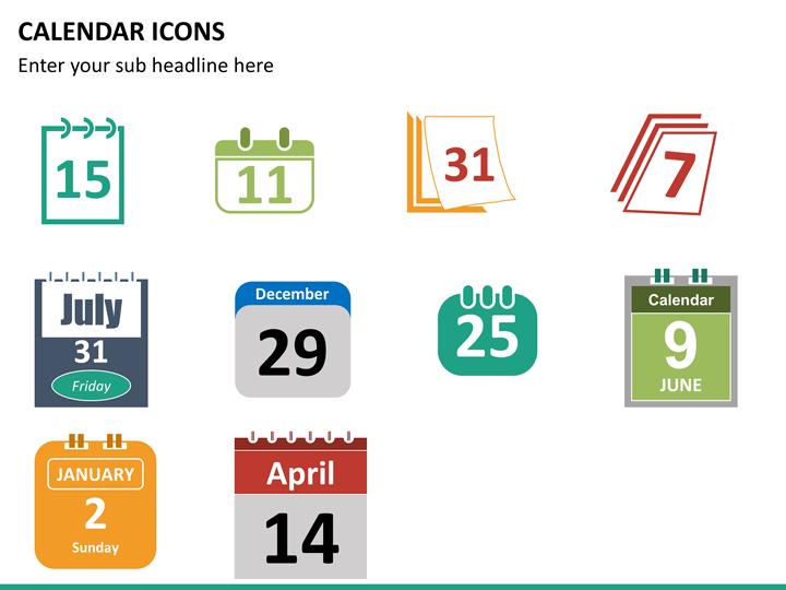 calendar icons powerpoint sketchbubble