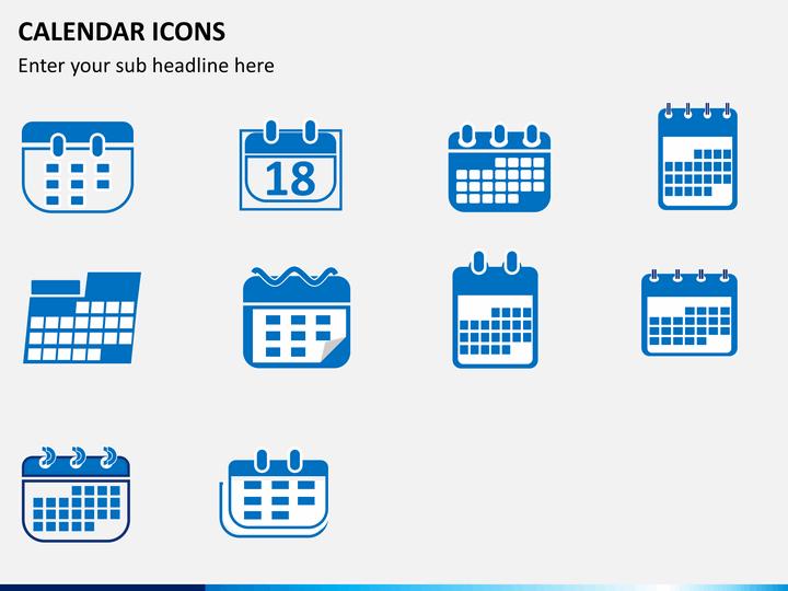 calendar icons powerpoint