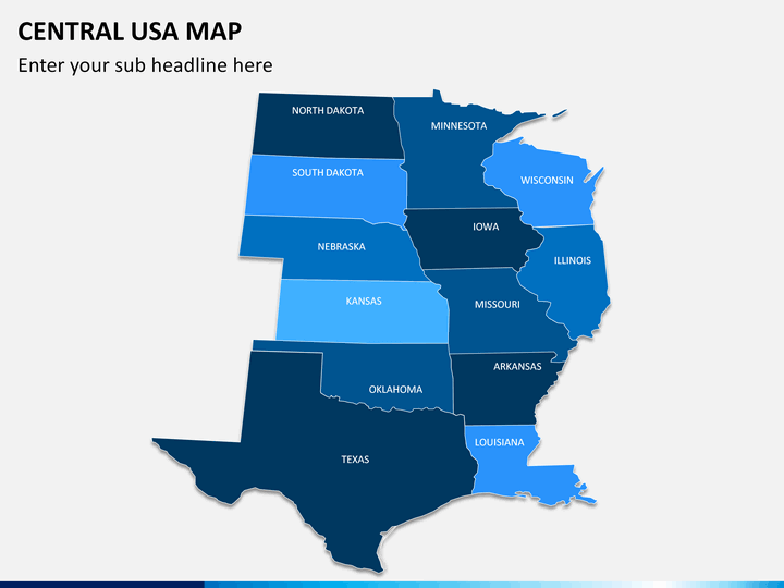 powerpoint central usa map