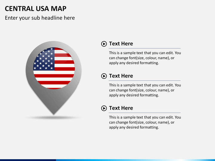 PowerPoint Central USA Map | SketchBubble