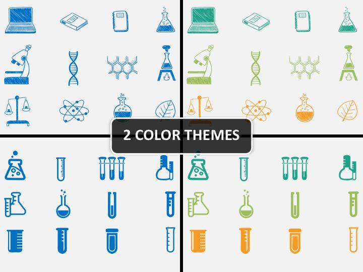 Chemistry Icons PPT cover slide
