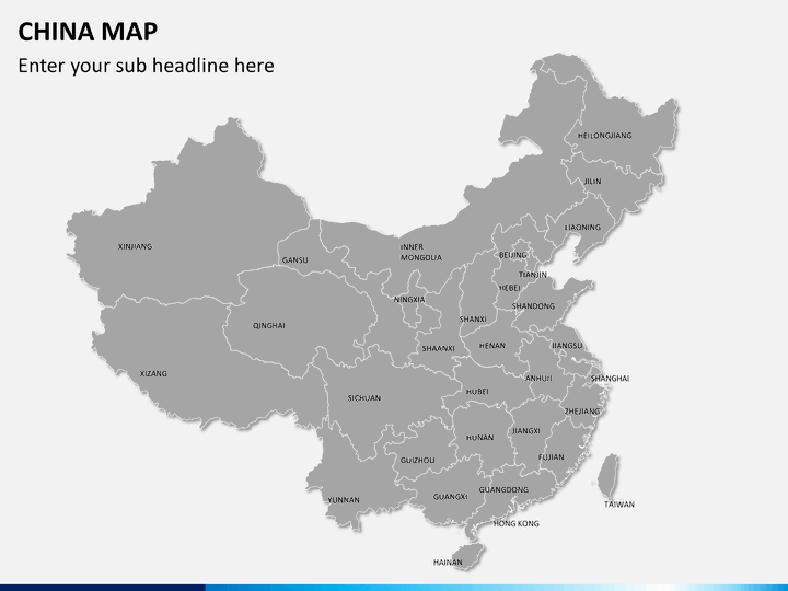 powerpoint china map