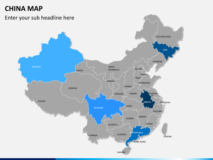 powerpoint china map sketchbubble