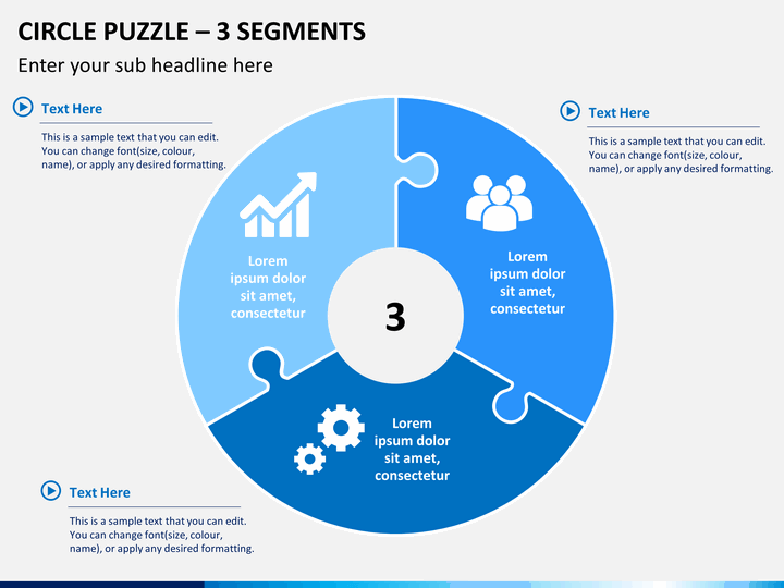 circle puzzle powerpoint template