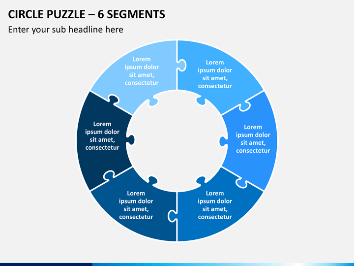 Circle Puzzle Powerpoint Template Sketchbubble