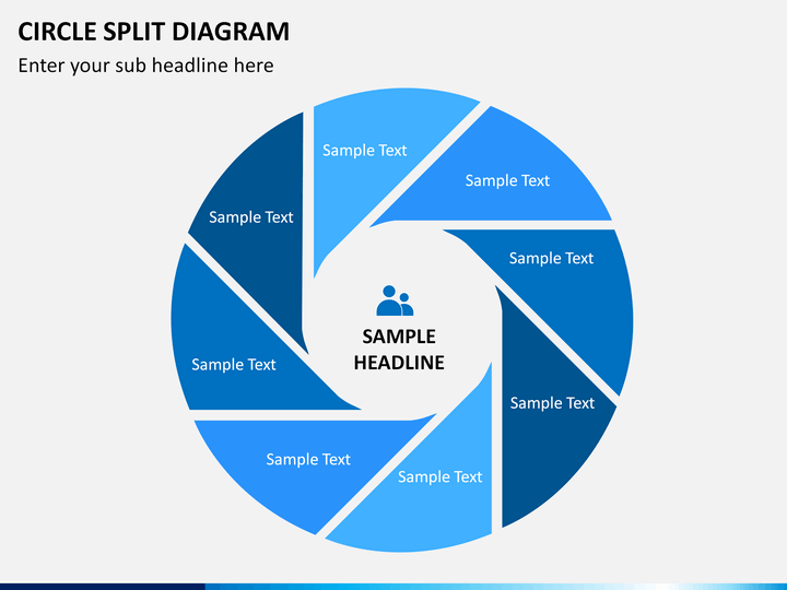 Circle Split Diagram Powerpoint