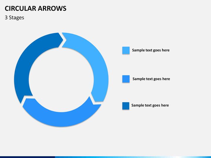 circular arrows powerpoint template | sketchbubble, Modern powerpoint