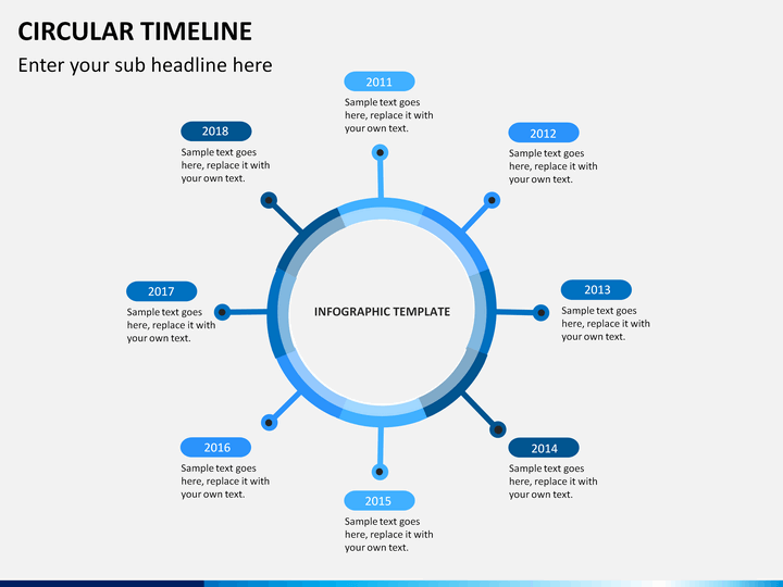 circular timeline powerpoint template sketchbubble