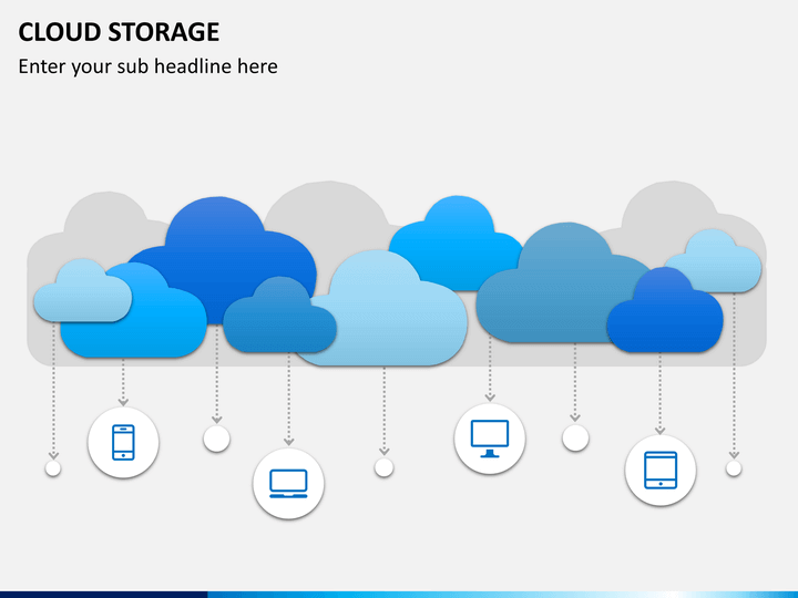 cloud storage powerpoint template sketchbubble