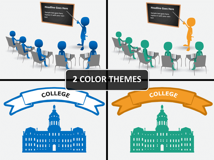 College/University PPT cover slide