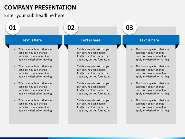how to make a company profile presentation in powerpoint