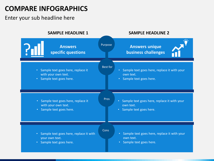 Comparison Infographic Template on Jigsaw Puzzle Templates