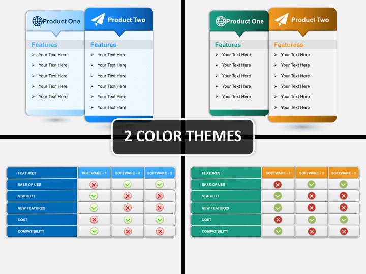 Comparison Tables PPT cover slide