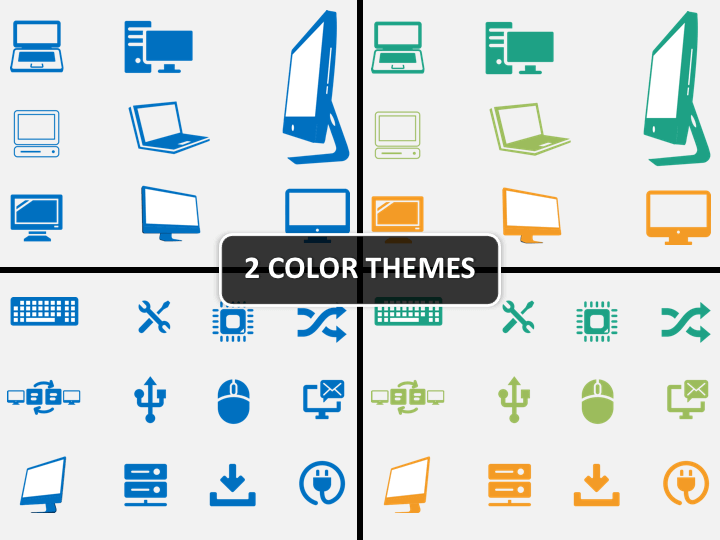 Computer Icons PPT cover slide