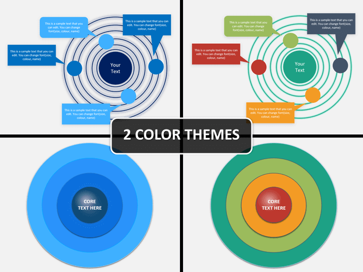 Concentric circles PPT cover slide
