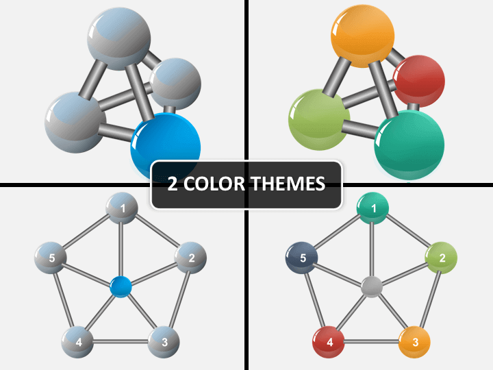 Connected spheres PPT cover slide