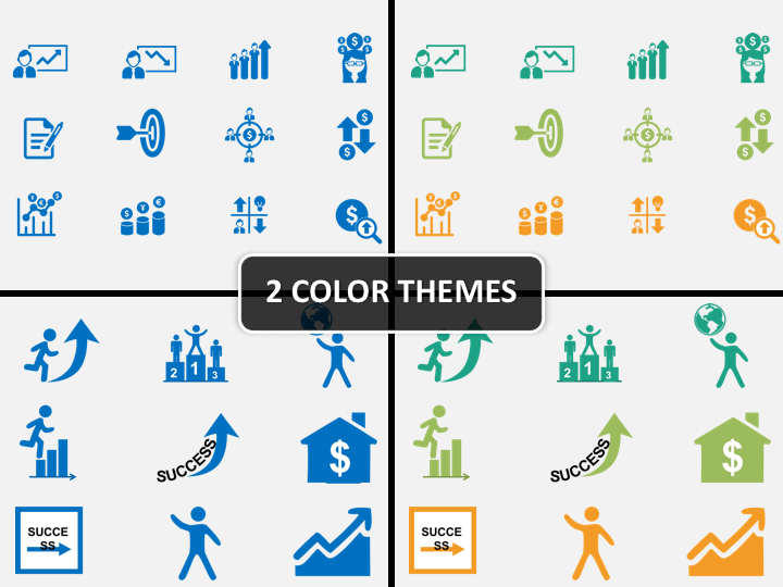 Corporate Icons PPT cover slide
