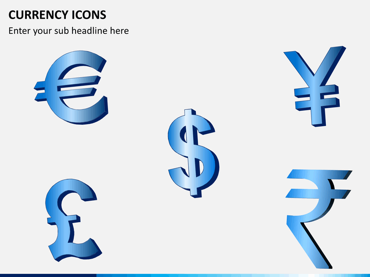 Currency icons PPT slide 1