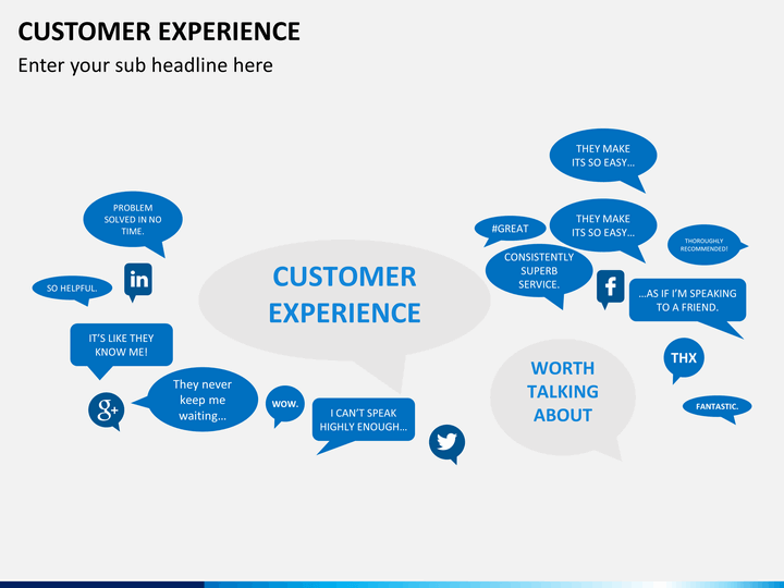 Customer Experience Management (CXM or CEM) PowerPoint Template ...