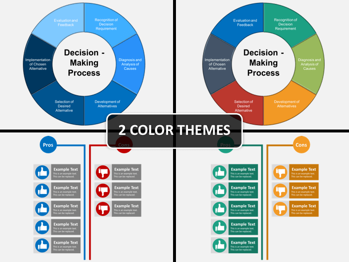 Decision making bundle PPT cover slide