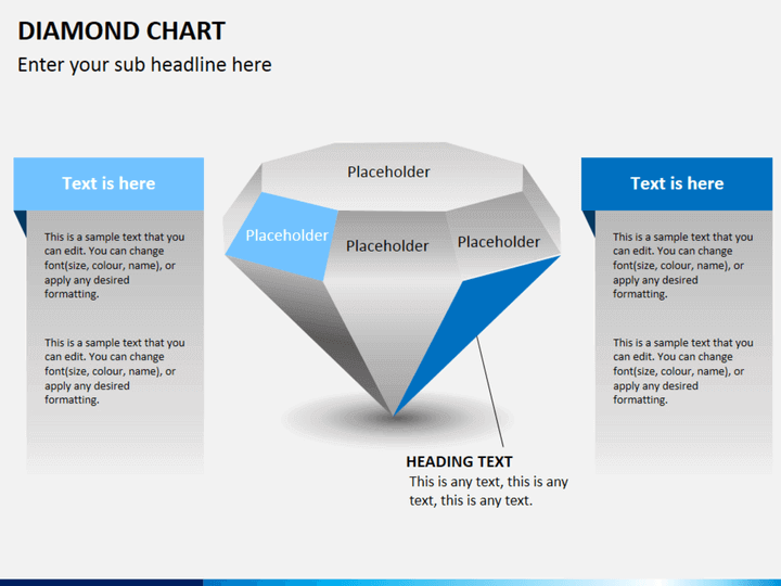 Diamond chart PPT slide 1