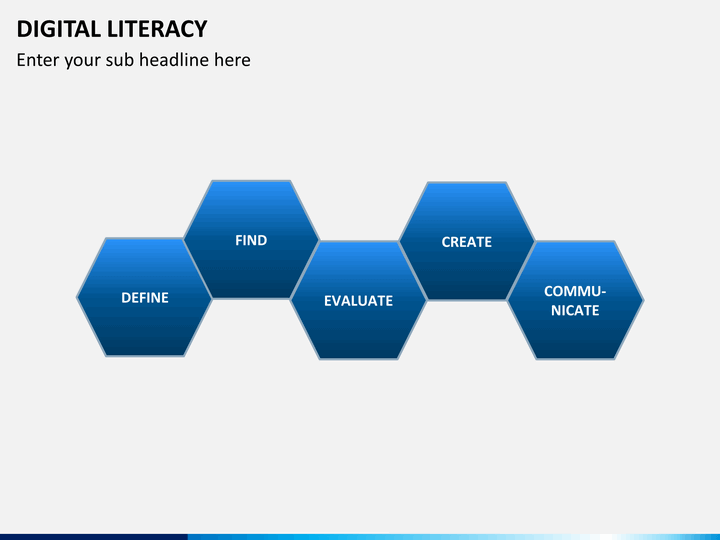 Digital Literacy Powerpoint Template Sketchbubble