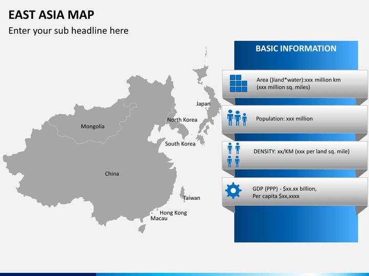 East asia map PPT slide 4