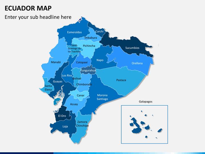 Ecuador map PPT slide 1