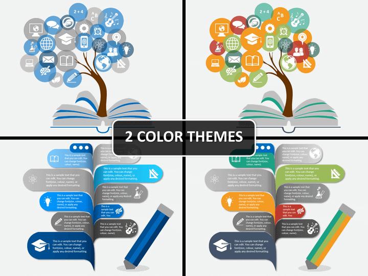 Education concept PPT cover slide