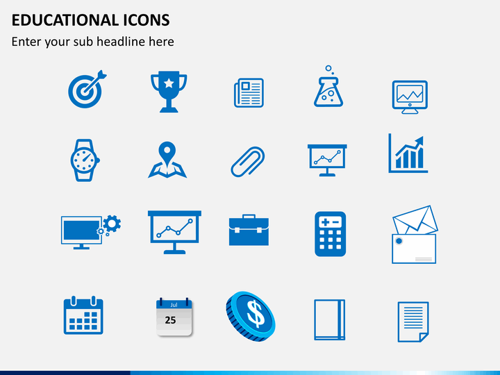 education icons powerpoint sketchbubble