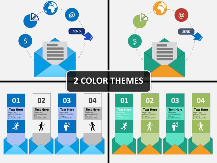 Envelopes and notes PPT cover slide