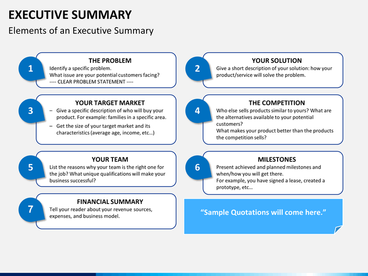 executive summary powerpoint template