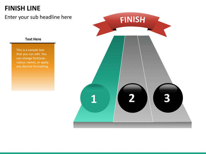Finish Line Diagram Powerpoint