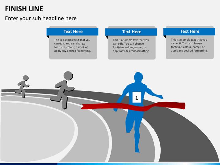 finish line diagram powerpoint