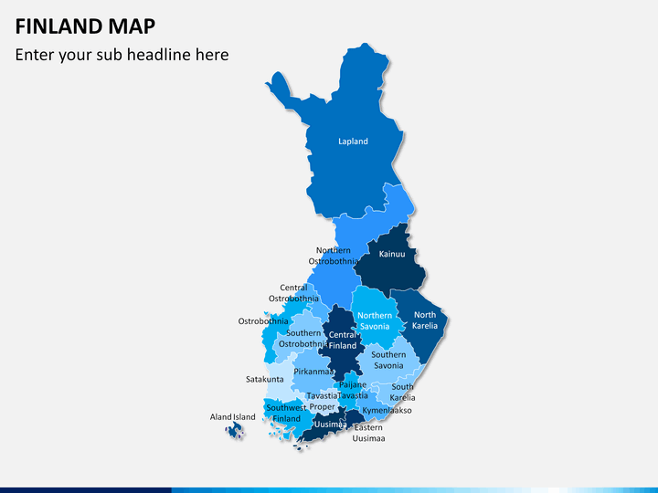 Finland Map PPT slide 1