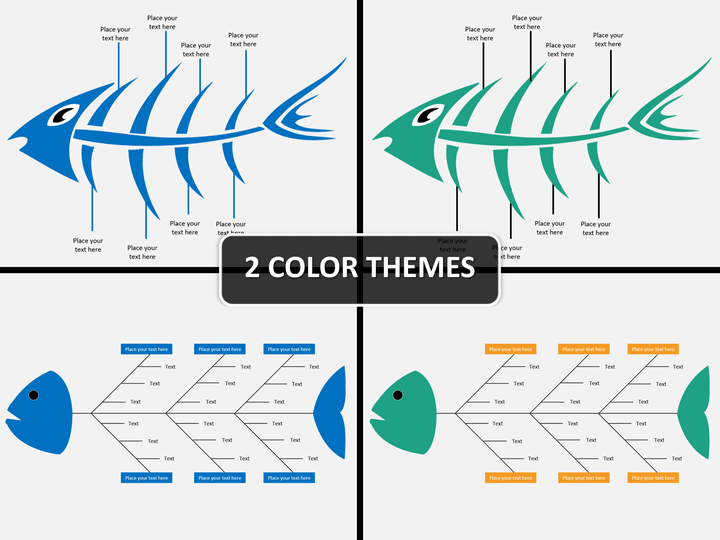 Fishbone diagram PPT cover slide