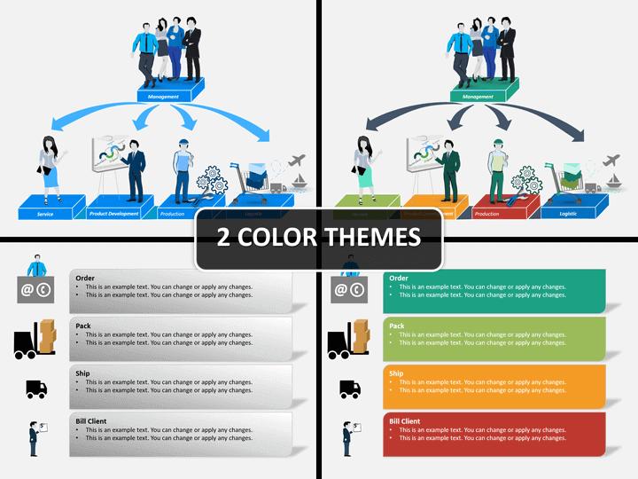 Flowchart visual PPT cover slide