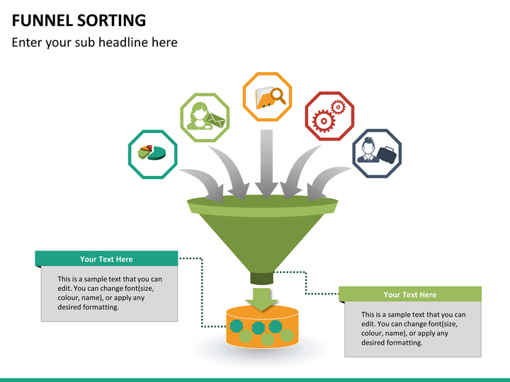 funnel sorting powerpoint template